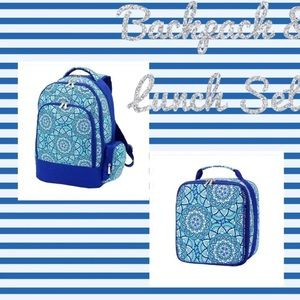 New Boutique Day Dream Backpack Lunch Bag Set